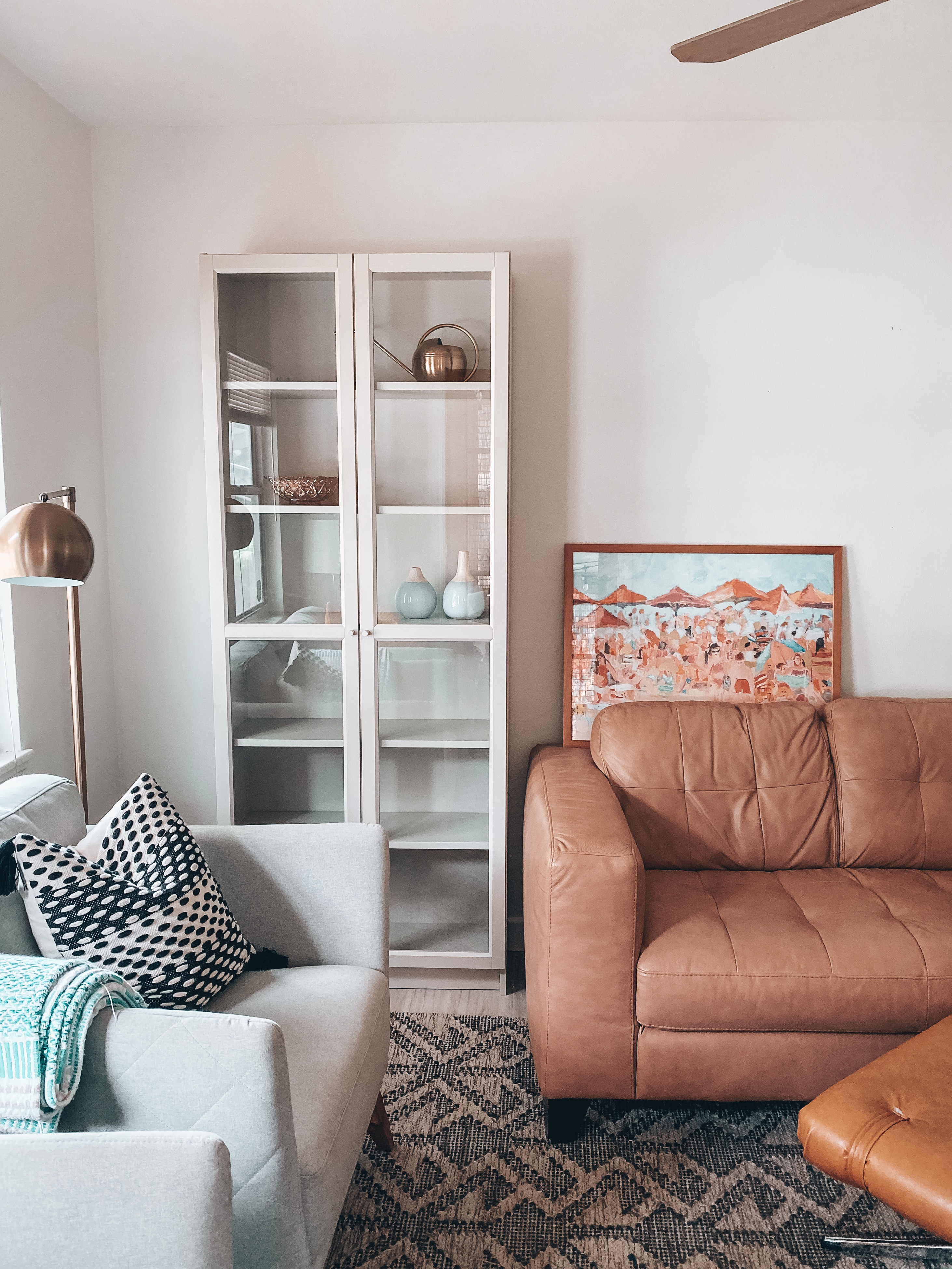 Ikea Billy Bookcase Painting The Living Room And Tips On Executing Projects Over The Weekend Blushing Bungalow