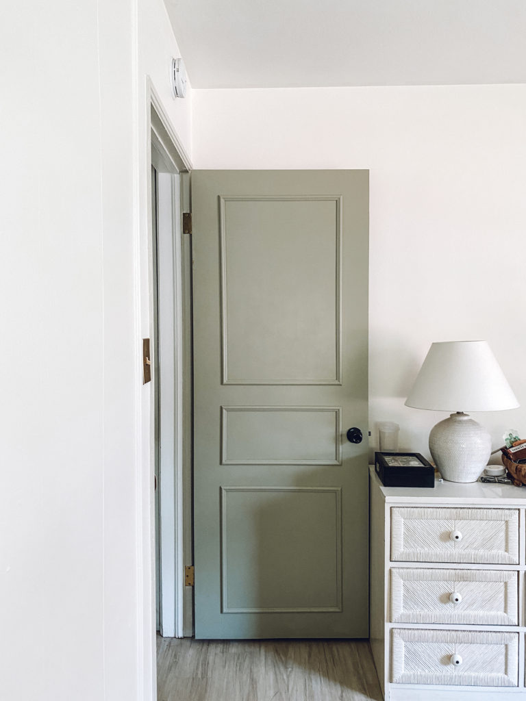 Easy DIY Door moulding from The Blushing Bungalow