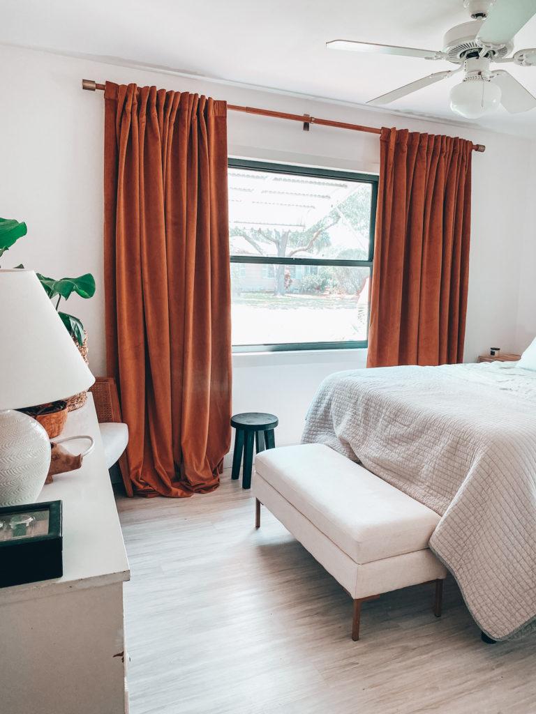 Trimming Windows + Window Treatments Master Bedroom ...